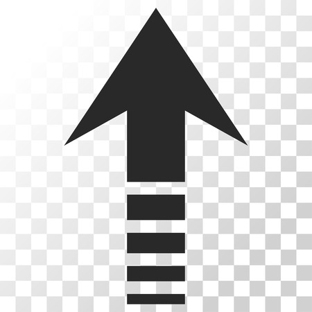go forward: Send Up vector icon. Image style is a flat gray color pictograph symbol. Illustration