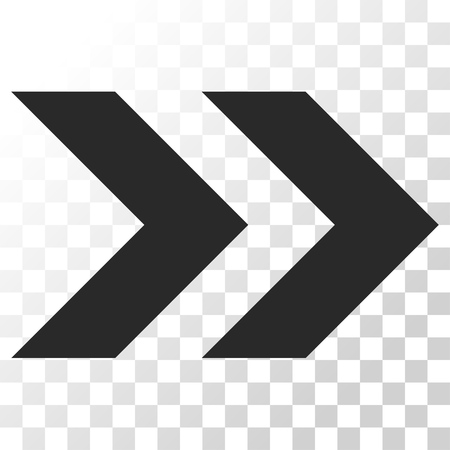 redirect: Shift Right vector icon. Image style is a flat gray color iconic symbol.