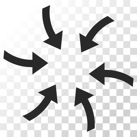 Twirl Arrows vector icon. Image style is a flat gray color pictogram symbol.