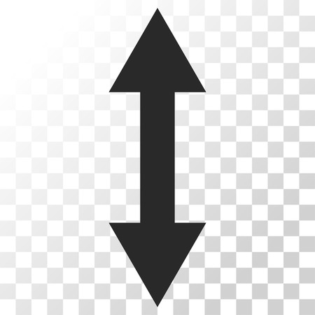 inverse: Vertical Flip vector icon. Image style is a flat gray color icon symbol.