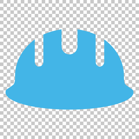 hardhat: Builder Hardhat vector icon. Image style is a flat blue and gray pictogram symbol.
