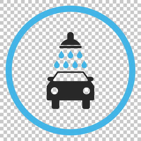 antiseptic: Car Wash vector icon. Image style is a flat blue and gray iconic symbol. Illustration