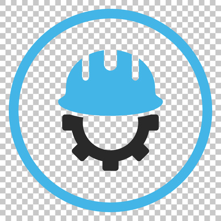 hardhat: Development Hardhat vector icon. Image style is a flat blue and gray iconic symbol.