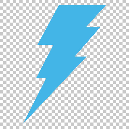 execute: Execute vector icon. Image style is a flat blue and gray icon symbol. Illustration