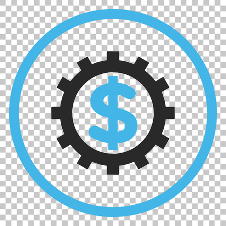 config: Financial Industry vector icon. Image style is a flat blue and gray icon symbol.