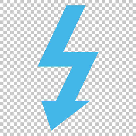 high voltage symbol: High Voltage vector icon. Image style is a flat blue and gray iconic symbol.
