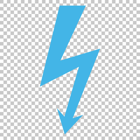 high voltage symbol: High Voltage vector icon. Image style is a flat blue and gray pictogram symbol. Illustration