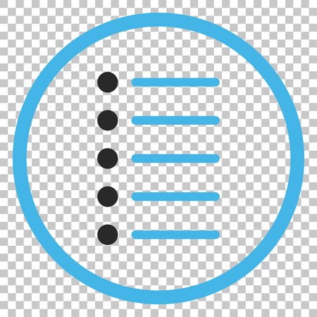 Items vector icon. Image style is a flat blue and gray icon symbol.