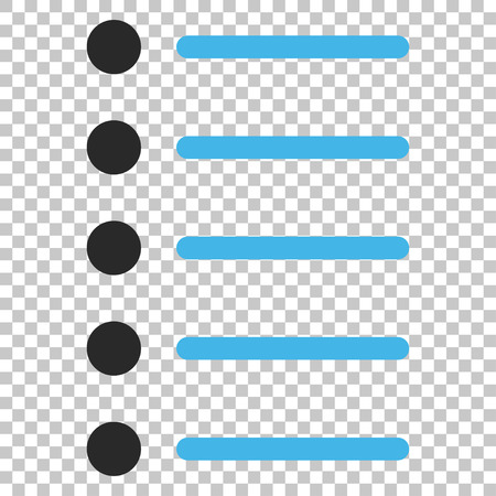 numerate: Items vector icon. Image style is a flat blue and gray iconic symbol.
