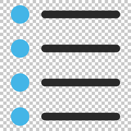numerate: Items vector icon. Image style is a flat blue and gray icon symbol.