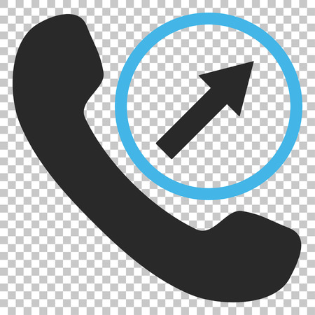 outgoing: Outgoing Call vector icon. Image style is a flat blue and gray icon symbol.