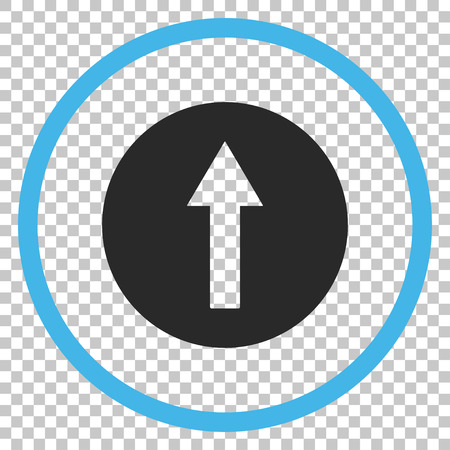 top pointer: Up Rounded Arrow vector icon. Image style is a flat blue and gray pictogram symbol. Illustration