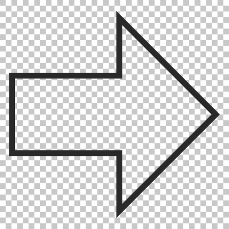 redirect: Arrow Right vector icon. Image style is a flat gray icon symbol.