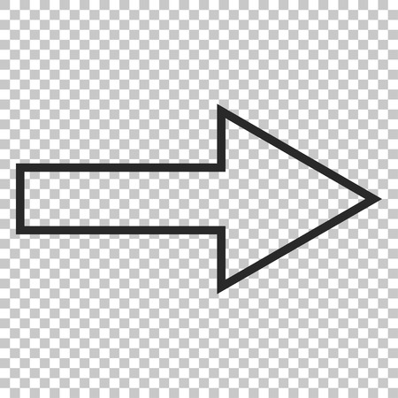 redirect: Arrow Right vector icon. Image style is a flat gray pictogram symbol.