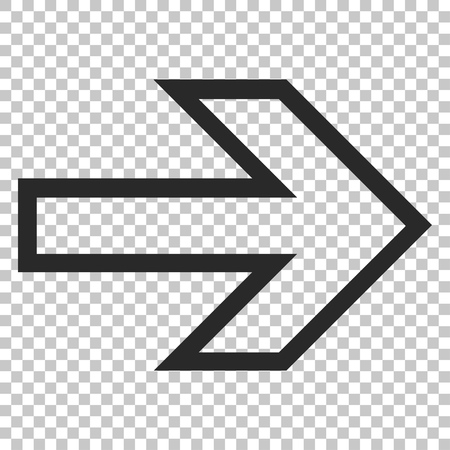 propel: Arrow Right vector icon. Image style is a flat gray iconic symbol.