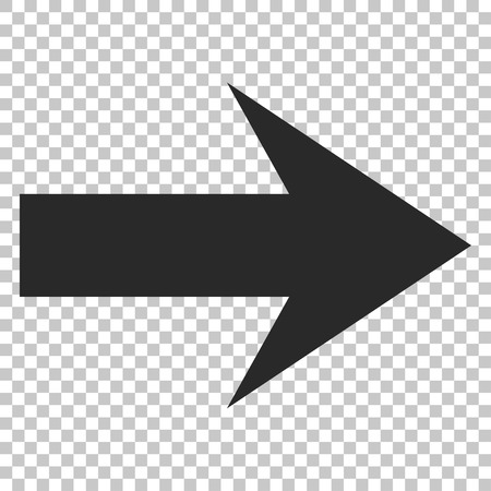 propel: Arrow Right vector icon. Image style is a flat gray pictograph symbol.
