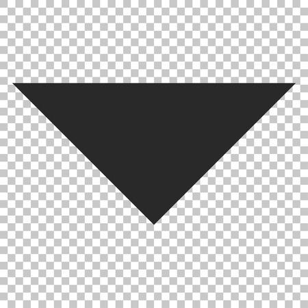 arrowhead: Arrowhead Down vector icon. Image style is a flat gray icon symbol.