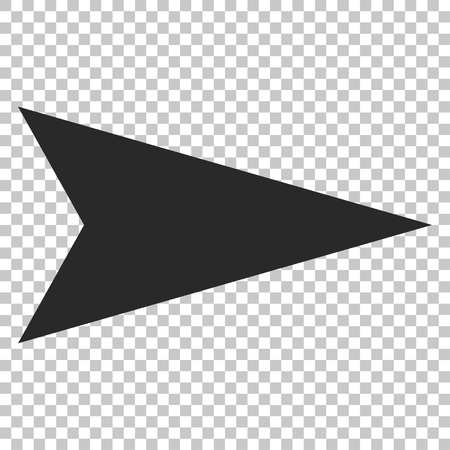 redirect: Arrowhead Right vector icon. Image style is a flat gray icon symbol.