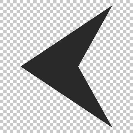 arrowhead: Arrowhead Left vector icon. Image style is a flat gray icon symbol.