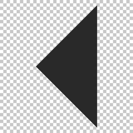arrowhead: Arrowhead Left vector icon. Image style is a flat gray pictogram symbol.