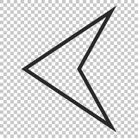 arrowhead: Arrowhead Left vector icon. Image style is a flat gray iconic symbol.