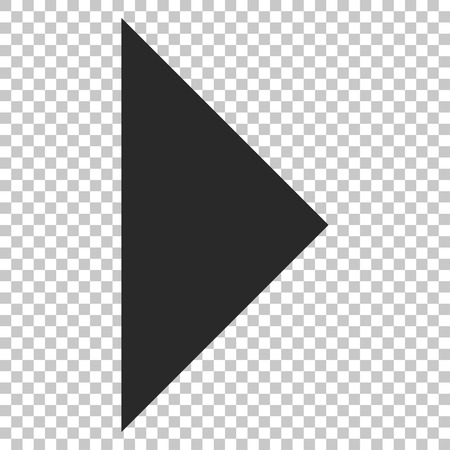 arrowhead: Arrowhead Right vector icon. Image style is a flat gray icon symbol.