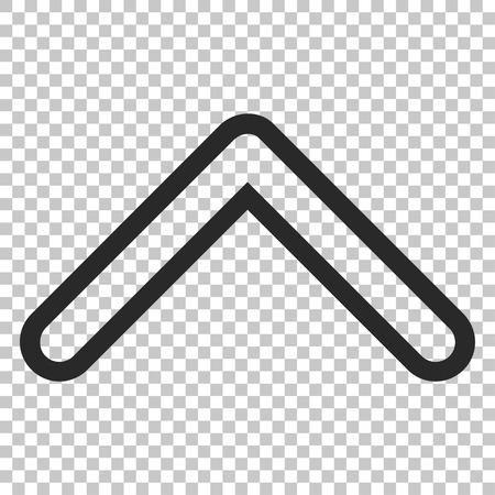 arrowhead: Arrowhead Up vector icon. Image style is a flat gray icon symbol.