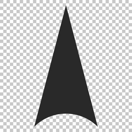 arrowhead: Arrowhead Up vector icon. Image style is a flat gray iconic symbol.