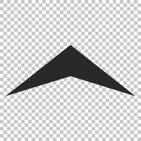 arrowhead: Arrowhead Up vector icon. Image style is a flat gray pictogram symbol.