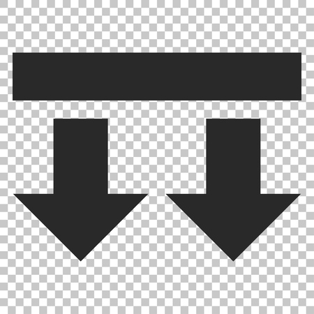 bring: Bring Down vector icon. Image style is a flat gray pictogram symbol.