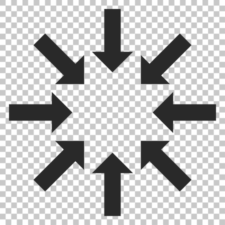 collapse: Collapse Arrows vector icon. Image style is a flat gray pictogram symbol.