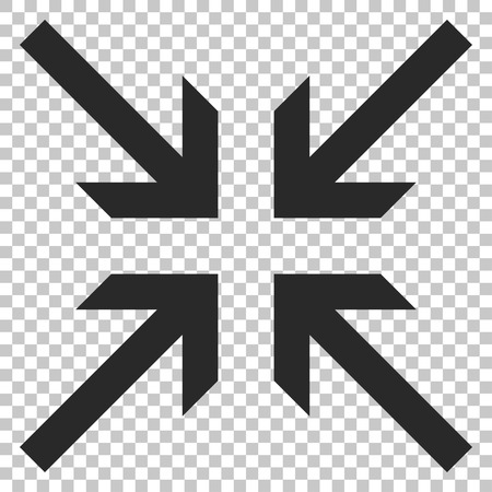 collide: Collide Arrows vector icon. Image style is a flat gray pictogram symbol. Illustration