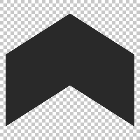 upward movements: Direction Up vector icon. Image style is a flat gray iconic symbol.