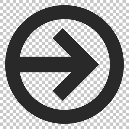 redirect: Direction Right vector icon. Image style is a flat gray iconic symbol.
