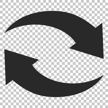 Exchange Arrows vector icon. Image style is a flat gray icon symbol.