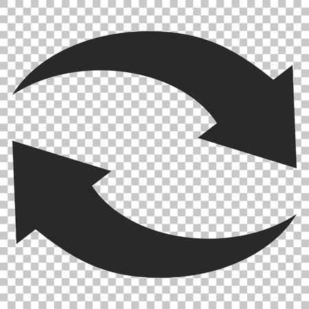 Exchange の矢印ベクトル アイコン。画像のスタイルは、フラット グレーのアイコンのシンボルです。