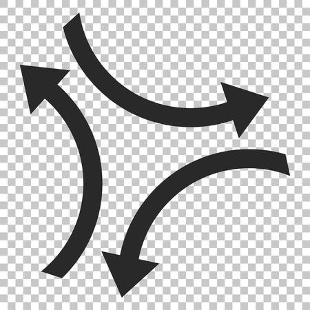 revolve: Exchange Arrows vector icon. Image style is a flat gray pictogram symbol.