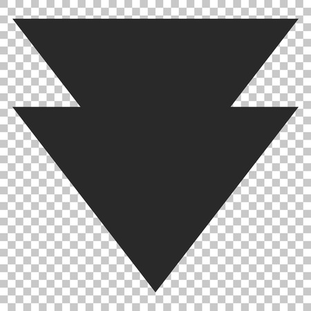 failing: Move Down vector icon. Image style is a flat gray pictogram symbol.
