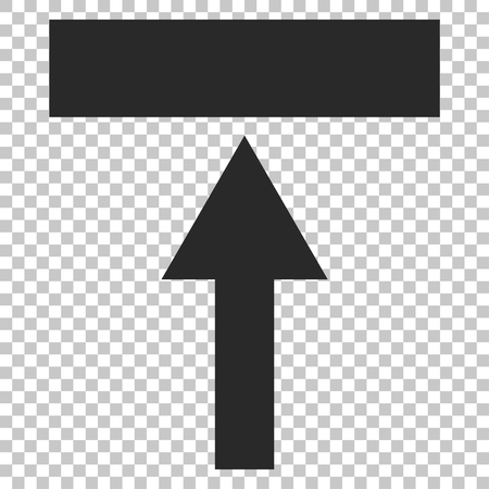 top pointer: Move Top vector icon. Image style is a flat gray iconic symbol.