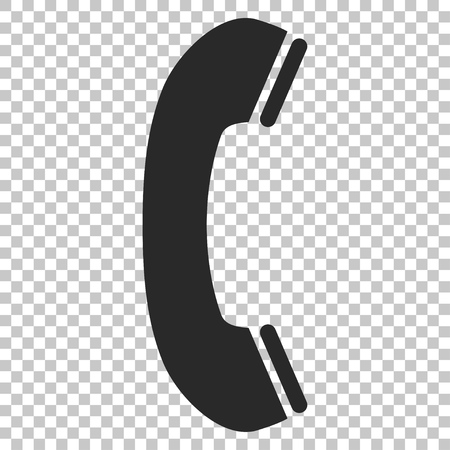 phone receiver: Phone Receiver vector icon. Image style is a flat gray iconic symbol.