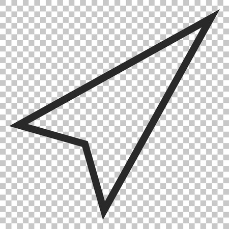 upward movements: Pointer Right Up vector icon. Image style is a flat gray iconic symbol.