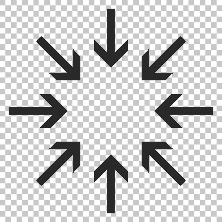 shrink: Pressure Arrows vector icon. Image style is a flat gray iconic symbol.