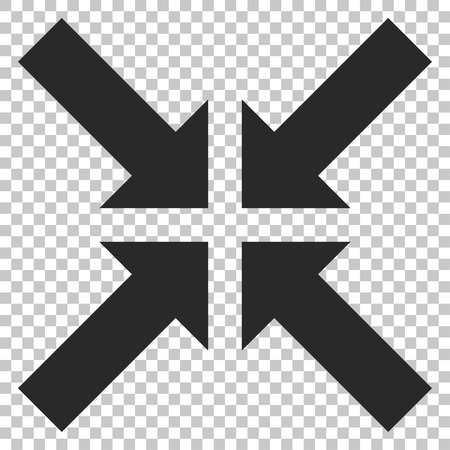minimize: Pressure Arrows vector icon. Image style is a flat gray pictograph symbol.