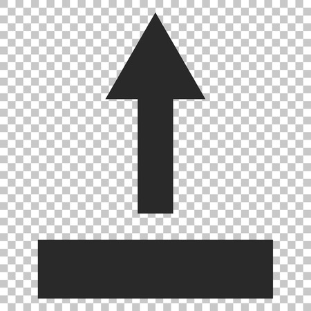 go forward: Pull Up vector icon. Image style is a flat gray pictogram symbol.
