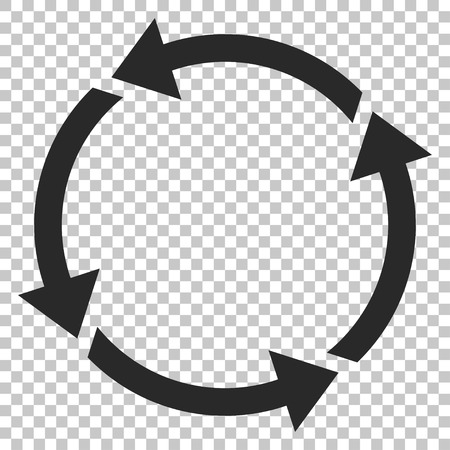 discard: Recycle vector icon. Image style is a flat gray pictograph symbol. Illustration