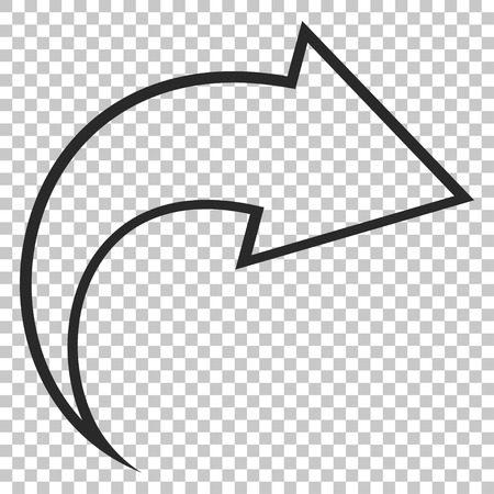 redo: Redo vector icon. Image style is a flat gray pictogram symbol.