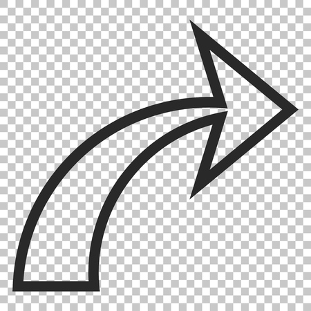 redo: Redo vector icon. Image style is a flat gray iconic symbol.