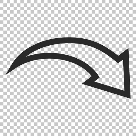 redo: Redo vector icon. Image style is a flat gray pictograph symbol. Illustration
