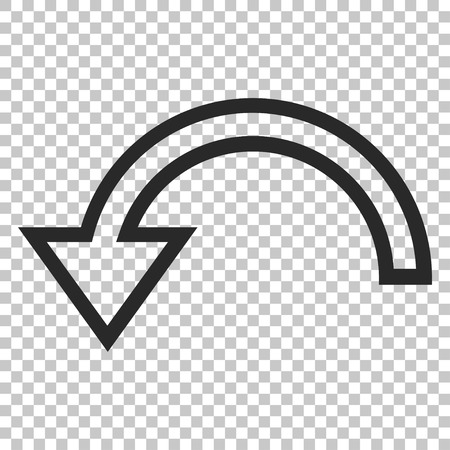rotate: Rotate Left vector icon. Image style is a flat gray icon symbol.