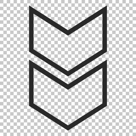 failing: Shift Down vector icon. Image style is a flat gray pictogram symbol.
